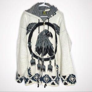 Ruminahui Tejidos wool zip front jacket hoodie